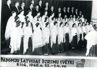 Vecpiebalgas koris Rīgā 1960.gada Dziesmusvētkos