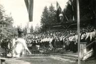 Vecpiebalgas Labdarības biedrības koris 1939.gada 7. augustā, I. Dziesmu dienā   Liezērē