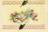 Hermaņa Cinča zīmēts apsveikums Austrai Trallai (vēlāk- Cincei) 1955.g. 8.dec.