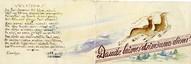 Hermaņa Cinča zīmēts apsveikums Austrai Trallai (vēlāk- Cincei) 1955.gada decembrī.